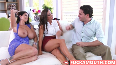 Abigail Mac and Ava Addams, two chicks same time