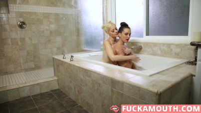 bathing together