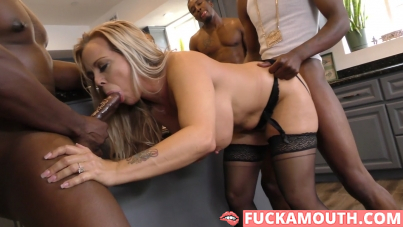 busty mommy and four black guys