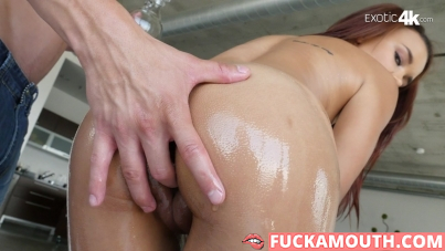 hot latina is oiled up for passionate sex