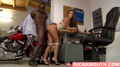 interracial anal in garage