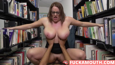 librarian with huge boobs needs a fuck